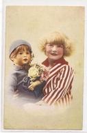 K 1105, OLD  FANTASY  POSTCARD  , CHILDREN , FINE ART - Enfants