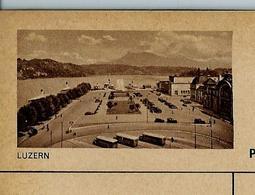 Carte Illustrée Neuve N° 163 - 0165 F (  LUZERN  (gare Routière Bus Postal)  ) - Entiers Postaux