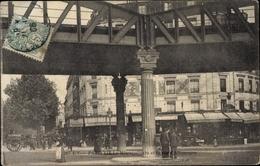 Cp Paris XIX., Le Metropolitain Et La Rue D'Allemagne - France