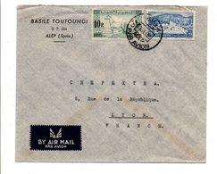 SYRIE AFFRANCHIOSSEMENT COMPOSE SUR LETTRE A EN TETE DE ALEP POUR LA FRANCE 1950 - Syrie