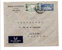 SYRIE AFFRANCHIOSSEMENT COMPOSE SUR LETTRE A EN TETE DE ALEP POUR LA FRANCE 1950 - Syria