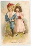 K 1115 VERY  OLD  (1902)  FANTASY  POSTCARD  , CHILDREN , FINE ART , - Sin Clasificación