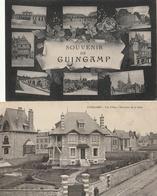 GUINGAMP - 2 CPA : Les Villas Environs De La Gare - Souvenir Multivues - Guingamp