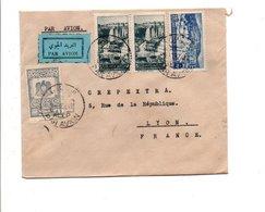 SYRIE AFFRANCHIOSSEMENT COMPOSE SUR LETTRE DE ALEP POUR LA FRANCE 1949 - Syrie