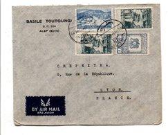 SYRIE AFFRANCHIOSSEMENT COMPOSE SUR LETTRE A EN TETE DE ALEP POUR LA FRANCE 1949 - Syrie