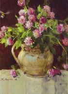 Clover Trefoil Blooming In Vase JUG Lucky Flowers Modern Postcard - Europa