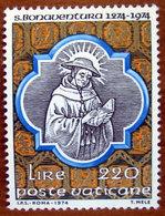 1974 VATICANO Centenario Morte Di San Bonaventura - Ritratto  - Lire 220  Nuovo - Unused Stamps