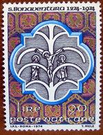 1974 VATICANO Centenario Morte Di San Bonaventura - Albero Della Vita  - Lire 90  Nuovo - Unused Stamps