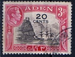 Aden 1951 Overprint 20 C On 3 Annas Boat Bateau Voilier Trois-MatsCapture Aden 1839 - Aden (1854-1963)