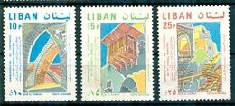 Libanon Liban 1968, Michel No. : 1075-77, - USED - *** - Líbano