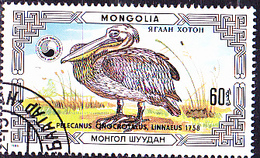 Mongolei - Rosapelikan (Pelecanus Onocrotalus) (MiNr: 1813) 1986 - Gest Used Obl - Mongolia