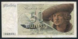 50 Deutsche Mark - Bank Deutscher Länder 9-12-1948 - See The 2 Scans For Condition.(Originalscan ) - [ 7] 1949-… : RFD - Rep. Fed. Duitsland