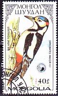 Mongolei - Großer Buntspecht (Dryobates Major) (MiNr: 1853) 1987 - Gest Used Obl - Mongolia