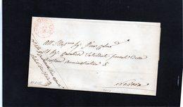 CG28 - Lett. Da Castelletto Tic. X Novara 17/1/1855- Bollo Doppio Cerchio Sardo Rosso - 1. ...-1850 Prefilatelia