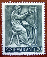 1966 VATICANO Il Lavoro Dell'uomo  Pittura Painting - Lire 20  Nuovo - Vatican