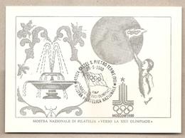 Italia - Cartolina Con Annullo Speciale: Verso La XXII° Olimpiade Di Mosca 1980 - Castel San Pietro Terme (BO) - 1980 - Verano 1980: Moscu