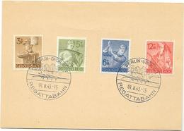 DR Karte Mit MI.850-853 + SSt. Berlin Grünau Regattabahn 1.8.43 - Briefe U. Dokumente