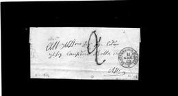 CG28 - Lett. Da Castelnuovo D'Asti X Asti 11/1/1862 - Bollo Doppio Cerchio Sardo + Segni Di Tassa - 1. ...-1850 Prefilatelia