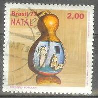 1977 2cr Christmas Used - Brazil