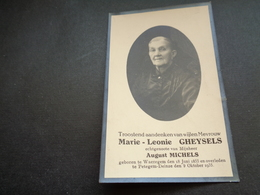 Doodsprentje ( 765 )   Gheysels / Michels -  Waereghem  Waregem  Petegem - Deinze  1935 - Obituary Notices