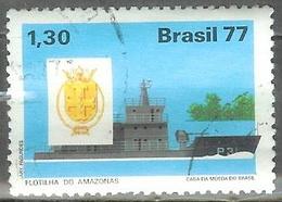 1977 1.30cr Navy Ship Used - Brazil