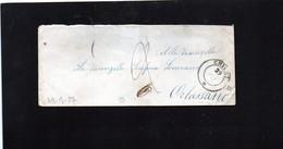 CG28 - Busta Da Chieri X Orbassano 29/9/1857 - Bollo Doppio Cerchio Sardo Nero + Segni Di Tassa - No Testo - ...-1850 Voorfilatelie