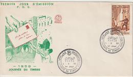 Tunisie FDC 1959 Journée Du Timbre 498 - Tunisie (1956-...)
