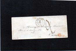 CG28 - Busta Da Chieri X Torino 15/6/1858 - Bollo Doppio Cerchio Sardo Nero + Segni Di Tassa - No Testo - ...-1850 Voorfilatelie