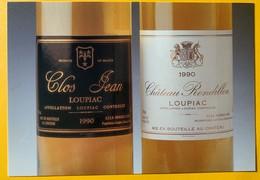 12103 -  Château Clos Jean & Rondillon Loupiac 1990 - Publicité