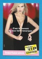 CPM.   Cart'Com 2 Volets.   Wonderbra.   Soutiens-gorge.  Casting 2005.   Sexy.   Postcard. - Publicité
