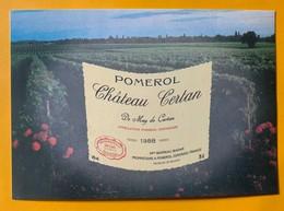 12105 -  Château Certan De May De Certan 1988 Pomerol - Publicité