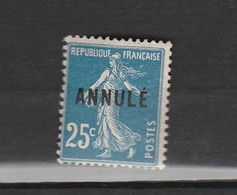 FRANCE SPECIMEN -ANNULE N°140a CL 1 ** P25 C SEMEUSE - Especimenes