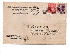 USA ETATS UNIS LETTRE A EN TETE DE NEW YORK POUR LA FRANCE 1937 - Etats-Unis