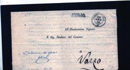 CG28 - Busta Da Domodossola X Varzo 28/1/1850 - Bollo Doppio Cerchio Sardo Nero + Dopo La Partenza - 1. ...-1850 Prefilatelia