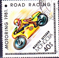 Mongolei - Motorradsport (MiNr: 1361) 1981 - Gest Used Obl - Mongolia