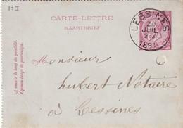DDW764 - Entier Carte-Lettre Type TP 46  LESSINES 1891 En Ville - Origine Manuscrite OGY - Cartas-Letras
