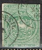 DO 15662 ECUADOR GESTEMPELD YVERT NR 2  ZIE SCAN - Equateur