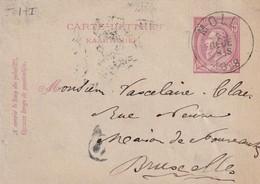 DDW765 - Entier Carte-Lettre Type TP 46 MOLL  1888 Vers BXL - Cartas-Letras