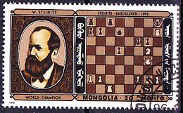 Mongolei - Schachweltmeister W. Steinitz (MiNr: 1750) 1986 - Gest Used Obl - Mongolia
