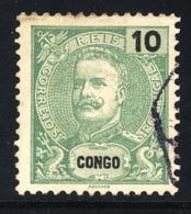! ! Congo - 1898 King Carlos 10 R - Af. 16 - Used - Congo Portugais