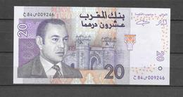Billet 20 Dhs De SM Le Roi Mohamed VI. (Voir Commentaires) - Marokko