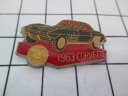 620 Pin's Pins / Beau Et Rare / THEME : AUTOMOBILES / CHEVROLET CORVETTE 1963 - Corvette