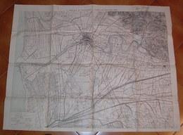 CARTA  GEOGRAFICA MILITARE - 7 BRIGATA DI CAVALLERIA  1904 - PISA E DINTORNI - ISTITUTO GEOGRAFICO MILITARE - Mapas Geográficas