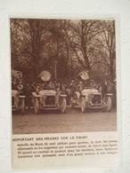 Voitures Militaires équipées De Projecteur Anti Zeppelin   -  Coupure De Presse De 1914 - Projecteurs