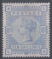 GRAN BRETAGNA 1883  SG 183a  10/- Pale Ultramarine  UNMOUNTED MINT EXAMPLE - 1840-1901 (Viktoria)