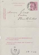DDW767 - Entier Carte-Lettre Type TP 46 NAMUR Station 1894 Vers NOVILLE LES BOIS Via LEUZE-LONGCHAMPS - Cartas-Letras