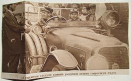 Edmond Jacquelin (Champion Cycliste)  Au Volant Berline Projecteur Anti Zeppelin -  Coupure De Presse De 1914 - Projectoren