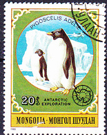 Mongolei - Adeliepinguin (Pygoscelis Adeliae) (MiNr: 1336) 1980 - Gest Used Obl - Mongolia