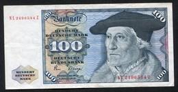 100 Deutsche Mark 2-1-1980 / Bundesbanknote NL - See The 2 Scans For Condition.(Originalscan ) - 100 Deutsche Mark