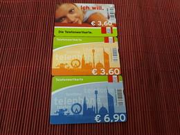 3 Phonecards Austria 401 A+600A+616A Used Rare - Austria